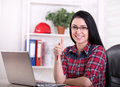 Woman Engineer Showing Ok Sign In The Office Royalty Free Stock Photos - 69062738