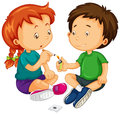 Boy And Girl Trying To Smoke Royalty Free Stock Image - 69068716