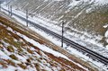 Railway In Snow Royalty Free Stock Images - 69081029