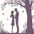Illustration Black Silhouette Of Lovers Embracing On A White Background Stock Photography - 69102682