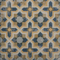 Blue And Orange Pattern Tile Royalty Free Stock Photography - 69110837