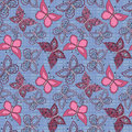 Seamless Abstract With Butterflies Pattern  Background Royalty Free Stock Images - 69150539