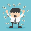 Businessman With Heap Of Dollar Money Royalty Free Stock Image - 69158016