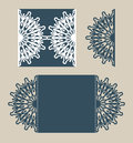 Template Greeting Card With Openwork Pattern Stock Photos - 69160633
