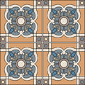 Seamless Pattern Illustration In Traditional Style - Like Portuguese Tiles. Royalty Free Stock Image - 69166086
