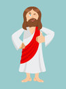 Jesus Hands Shows Thumbs Upl. Son Of God. Signs All Right. Thumb Stock Images - 69168724