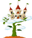 Bean Sprout With Castle In The Clouds Cartoon Royalty Free Stock Images - 69171369