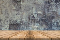 Empty Wooden Table Top At Concrete Wall - Can Be Used For Displa Royalty Free Stock Images - 69191879