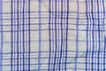 Background, Texture Of A Checkered Gray Fabric With Blue Stripes Royalty Free Stock Images - 69195569