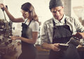 Barista Prepare Coffee Working Order Concept Stock Photography - 69198082