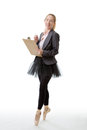 Business Ballerina With Clipboard Stock Photos - 69218123