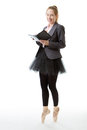 Business Ballerina With Book Stock Photos - 69218163