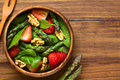Strawberry, Asparagus, Spinach, Walnut Salad Royalty Free Stock Photography - 69224557