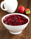 German Rote Gruetze Red Berry Pudding Royalty Free Stock Photos - 69225458