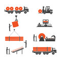 Icons Metallurgy Production Of Pipes Stock Photography - 69228692