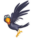 Flying  Crow Cartoon Character Royalty Free Stock Image - 69241626