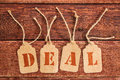Deal Sign  On  Price Tags Stock Photography - 69246542