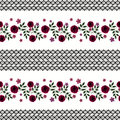 Seamless Flowers From Red Roses Pattern On White Background Royalty Free Stock Photography - 69258557