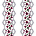 Seamless Flowers From Red Roses Pattern On White  Background Royalty Free Stock Image - 69258576