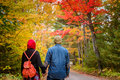 Muslim Couple During Autumn Season Royalty Free Stock Photo - 69258735