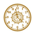 Watch Face Antique Clock Vector Illustration. Stock Images - 69260124