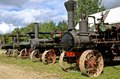 Row Of Steam Engines Royalty Free Stock Image - 69272676