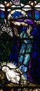 Mary And Baby Jesus In Stained Glass Stock Photos - 69283023