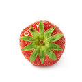 Single Ripe Red Strawberry  Stock Images - 69286294