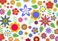Funky Flowers Pattern Royalty Free Stock Photography - 6933127