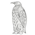 Adult Coloring. Bird Penguin. Royalty Free Stock Images - 69329619