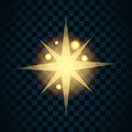 Shine Gold Star With Glitter And Golden Sparkle Icon 1 Stock Images - 69341014