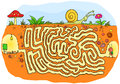 Ant Going To School Maze Game For Kids Royalty Free Stock Image - 69354846