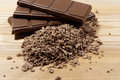 Grated Chocolate And Chocolate Bars Royalty Free Stock Photos - 69369828