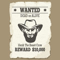 Wanted Dead Or Alive Western Poster Stock Photos - 69375763