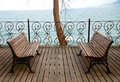 Empty Bench Looking To Sea. Royalty Free Stock Images - 69394679