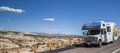Panorama Of An RV Along Highway 12 In Utah Stock Photography - 69419002