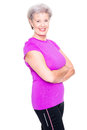 Sportive Senior Woman Royalty Free Stock Image - 69419356