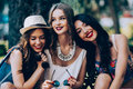 Three Beautiful Young Girls Royalty Free Stock Image - 69425276
