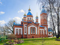 Red Brick Orthodox Church In Cesis Town, Latvia Royalty Free Stock Image - 69425446