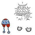 Numbers Game, Dot To Dot, Hat With Winter Ornament Stock Photo - 69442410