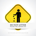 No Littering Poster Stock Photos - 69446563