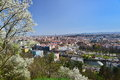View Of The Cluj-Napoca Curches, In Spring, From Cetatuia Hill. Stock Image - 69458631