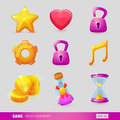 Set With Game Design Elements Stock Photography - 69458792