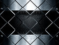 Metal Template Background Against Glass Cubes Royalty Free Stock Image - 69462696
