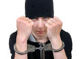 Young Man In Handcuffs Royalty Free Stock Image - 69479596