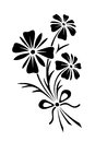 Black Silhouette Of Flowers. Vector Illustration. Royalty Free Stock Photography - 69481337