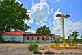Abandoned Rural Gas Station Near Elgin Texas Stock Images - 69482784