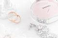 Omsk, Russia - June 03, 2014: Bride Morning  Perfume Chanel Royalty Free Stock Images - 69514169