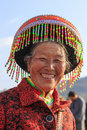 Chinese Woman In Traditional Miao Attire During The Heqing Qifeng Pear Flower Festival Stock Photo - 69516380
