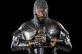 Medieval Warrior With Chain Mail Armour And Sword Stock Photography - 69526962